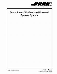 Bose Acoustimass Professional Speaker System Service