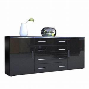 Kommode Schwarz Matt : sideboard kommode faro v2 korpus in schwarz matt front in schwarz metallic hochglanz m bel24 ~ Eleganceandgraceweddings.com Haus und Dekorationen