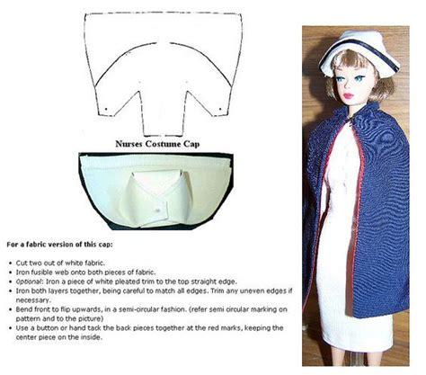 barbie nurse cap instructions barbie clothes patterns barbie sewing patterns nurse hat