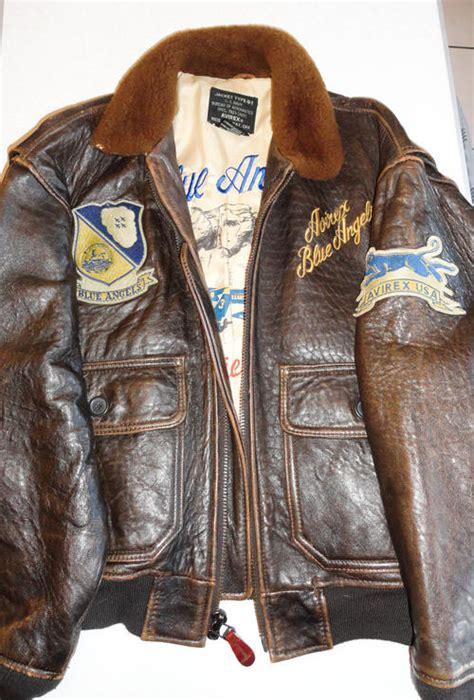 bid or bay kit authentic blue avirex bomber jacket for sale