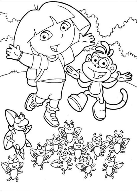 Nick Jr Kleurplaten by Free Printable The Explorer Coloring Pages Nick Jr