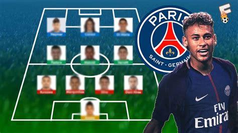 Neymar To Paris Saint Germain : PSG Potential Line Up 2017 ...