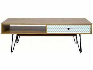 Conforama Table Basse : table basse rectangulaire karev chez conforama ~ Teatrodelosmanantiales.com Idées de Décoration