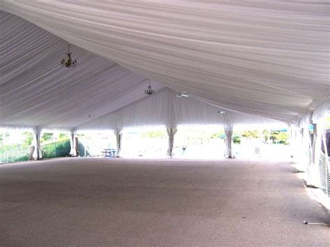 CLEARSPAN TENT - LT&A SUPER TENT® DECORATED WITH PLEATED ...