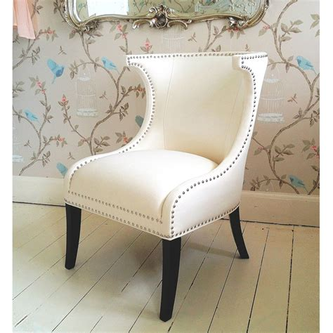 designer mayfair white wing chair french bedroom company