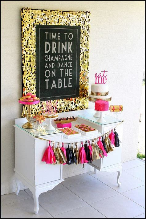 pink and gold 40th birthday decorations hens overseas retreat hens ideas