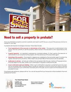 farm need to sell a property in probate first tuesday With probate letters for realtors