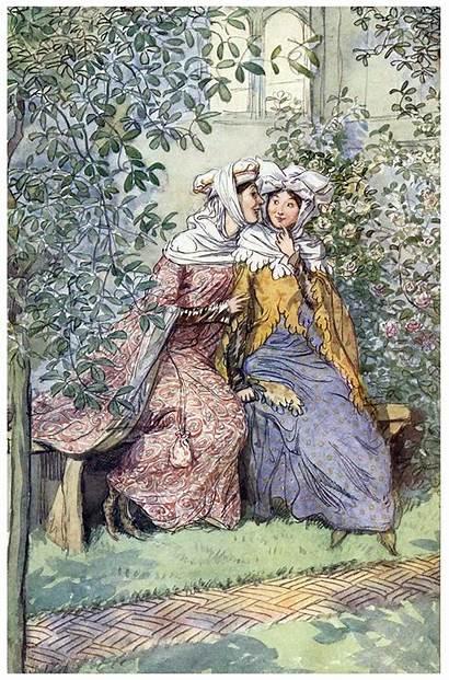 Illustrations Hugh Thomson Illustration Shakespeare Windsor Wives