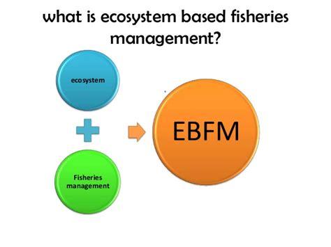 ecosystem based fisheries manegemnt