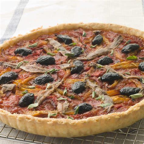 cuisine thon recette tarte aux tomates oignons et anchois cuisine