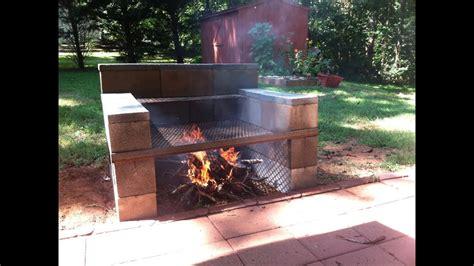 concrete block grill build   youtube
