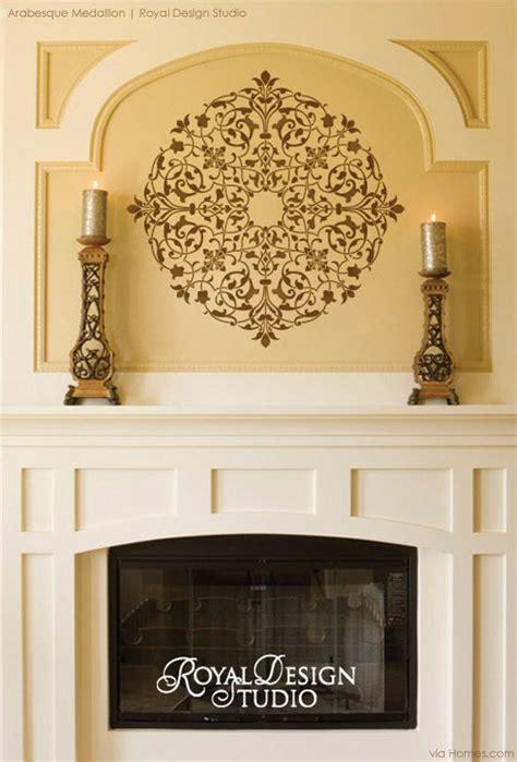warm   stencils   cozy fireplace fireplace wall