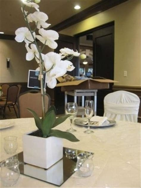 White Orchid Centerpieces Artificial Tradesy