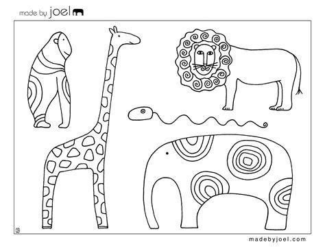 Made by Joel Animal Coloring Sheet Free Printable Template ...