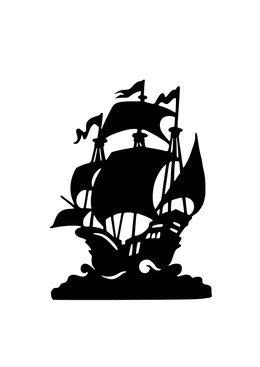 Download peter pan pirate ship silhouette clipart Peter