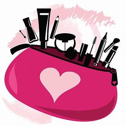 Makeup Bag Tools Beautician Pink Vector Illustration