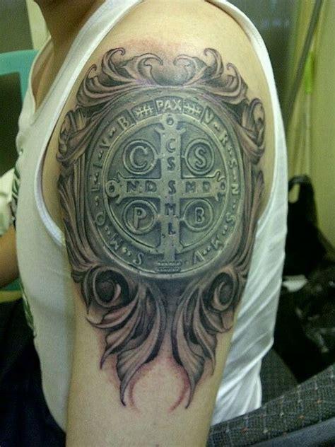 saint benito medalla tattoos pinterest saints