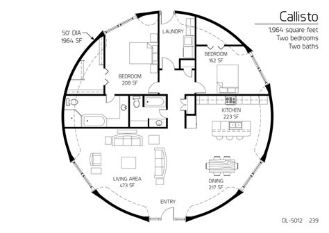 floor plan dl 5012 monolithic dome institute