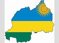 Rwanda Flag Map • Mapsofnet