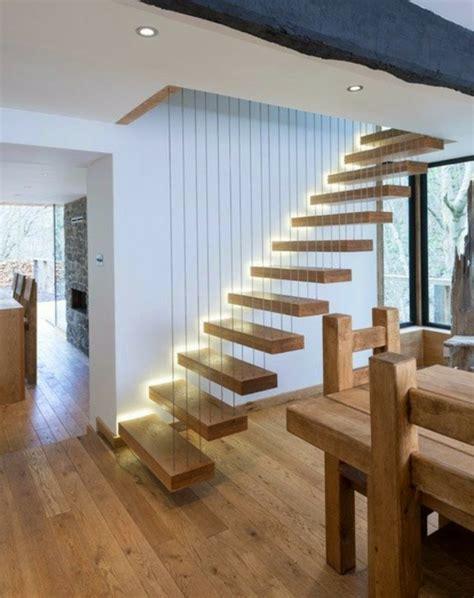 Moderne Und Kreative Innenraum Holztreppenholztreppe Mit Beleuchtung by Sehr Originelle Ideen F 252 R Led Treppenbeleuchtung
