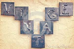 the word vintage made from metal letters stock photo With making metal letters