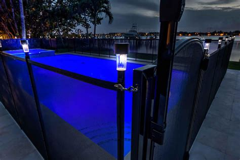 pool fence solar light saver pool fence systems