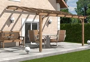 Construire Une Pergola En Bois : construire une pergola en bois contre un mur de conception ~ Premium-room.com Idées de Décoration
