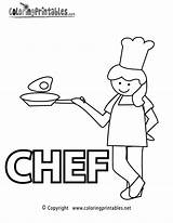 Chef Coloring Pages Printable Cooking Educational Sheets Colouring Activity Coloringprintables Worksheets Baking Thank Jobs Adult Cook Chefs Printables Woman Grade sketch template