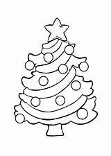 Tree Coloring Printable Chrismas sketch template
