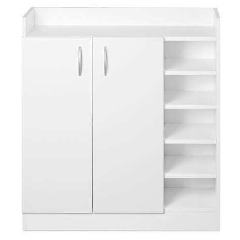 White Storage Cabinets With Doors by 2 Doors Shoe Cabinet Storage Cupboard White Wholesales