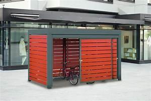 Fahrradbox Für 4 Fahrräder : fahrradhaus multiport f r 8 fahrr der mit trespa leisten ~ Articles-book.com Haus und Dekorationen