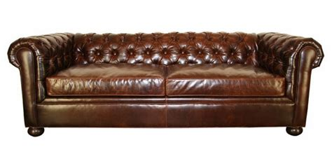 Designer Chesterfield Sofa Chesterfield Style Tufted Leather Sofa Club Furniture