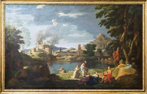 paysage avec orphee  eurydice illustrant le mythe