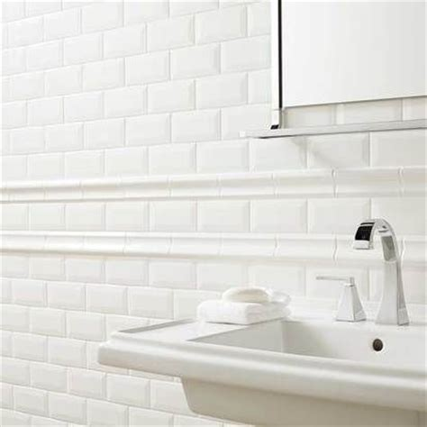 trim pieces for white beveled subway tile search