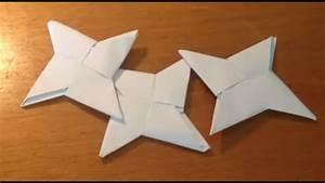 Comment Faire Une étoile En Papier : faire un shuriken en origami pliage shuriken papier ~ Nature-et-papiers.com Idées de Décoration