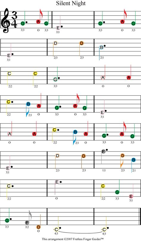 Piano traditional piano traditional piano free sheet music silent night (easy). Silent Night easy color coded violin sheet music en 2020 | Partition musicale, Partition musique ...