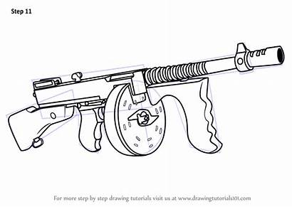 Fortnite Gun Drum Draw Step Drawing Drawingtutorials101