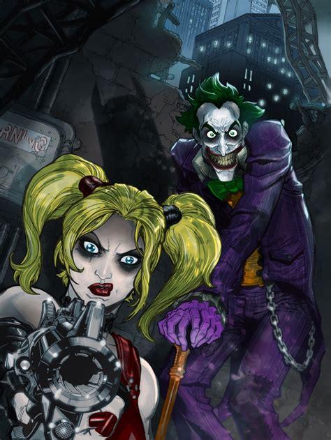 Arkham City Artwork by Arkham City Harley Quinn And Joker Colors By Cthompsonart
