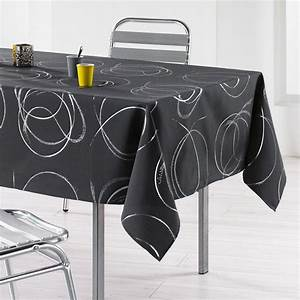 Nappe De Table : nappe rectangulaire l240 cm bully anthracite nappe de table eminza ~ Teatrodelosmanantiales.com Idées de Décoration