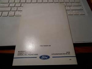 Manual De Propietario De Ford Fiesta Ikon 2001