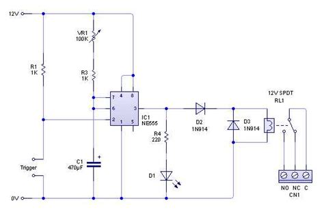 Time Delay Relay Wiring Diagram With Sensor by Relay Timer Circuit Automat3d