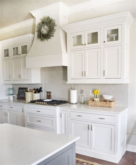 painted shaker style kitchen cabinets white kitchen with glass inserts in cabinets