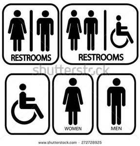 Restroom Signs Vector Art
