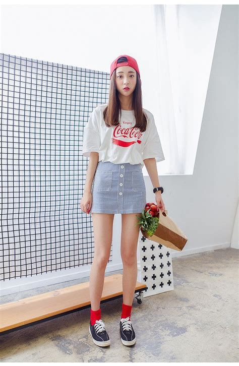 nice korean fashion loose cotton printed t shirt by www