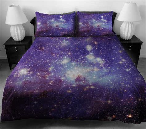 wow  knew space   comfy galaxy bedding geekologie