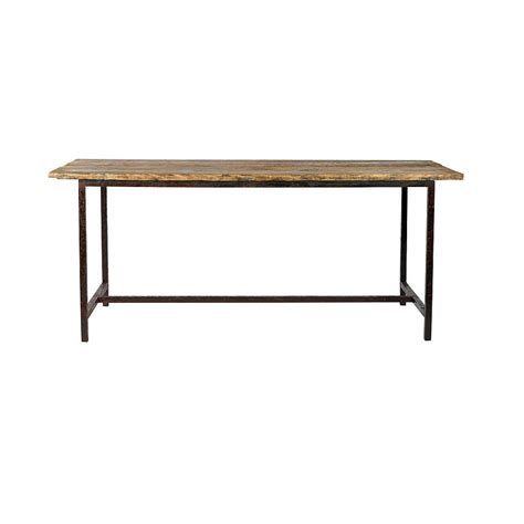 metal legs for wood table wooden table with metal legs by bell blue