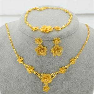 Aliexpress.com : Buy Trendy Gold Plated Jewelry Set Flower ...