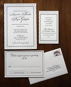 Traditional and elegant black white wedding invitation s for Etiquette email wedding invitations