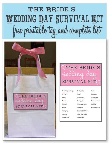 best wedding shower gifts wedding day survival kits for the and groom