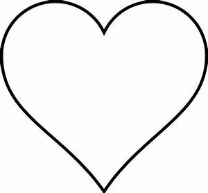 Heart Outline Clip Art | Small red heart black and white ...